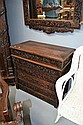 Antique Oriental profusely carved four drawer