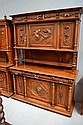 Large antique French Henri II walnut buffet