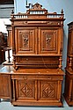 Antique French Henri II walnut buffet. H:255cm