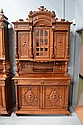Antique French Henri II carved oak buffet. H:255cm