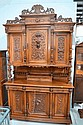 Antique French Henri II carved walnut six door