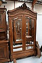 Antique French Louis XV style walnut two door