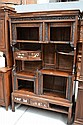 Antique Asian hardwood multi shelf display cabinet