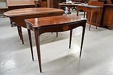 Fine & rare shape antique Georgian inlaid Mahogany