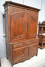 Antique 18th century French oak Buffet de corps,