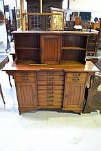 Antique English Mahogany multi drawer filing/music