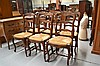 Set of six French oak Louis XV chairs (6)