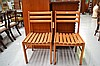 Pair of slat chairs (2)