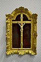 Fine antique French carved ivory crucifix, mounted