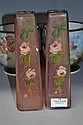 Pair of  French hand painted sleve vases (2)