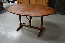 Antique French vigneron table, approx 116cm x