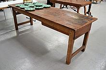 Antique French farmhouse table fitted with a large