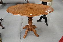 Antique French walnut shaped top occasional table,