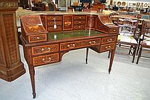 Antique English mahogany Carlton House desk,
