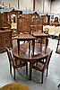 Set of six French caned back and seat chairs, with