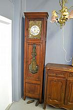 Antique French cherry wood comtoise clock, approx