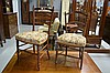 Antique French two similar side chairs