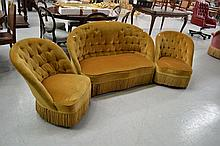 French three piece lounge suite