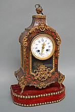 Antique French Louis XV style Boulle clock on a