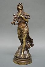D Campagna, bronze titled L'Hymne du Soir, signed