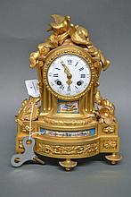 A 19th Century French ormolu and porcelain mounted