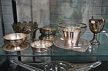 Assortment of French silver plate