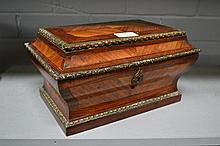 Antique French bombe formed casket in Kingwood &