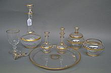 Antique French glass water set comprising of tray,