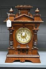 Antique French Henri II clock, 37cm high. No Key &