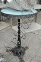 Old French cast iron bases bistro table