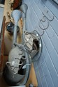 Two vintage gal metal French watering cans (2)