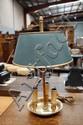 Vintage French bronze / brass 3 light Bouillotte