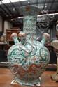 Chinese famille verte tulip vase