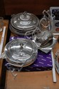 Assortment of silver plate to include toast racks,