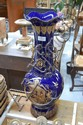 Large blue ground and gilt vase