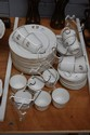 Antique French porcelain 12 cups, 11 saucers and