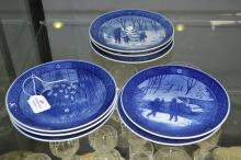 Royal Copenhagen, set of plates commemorating various years, approx 20cm H