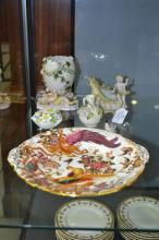 Collection of various porcelain to include Sitzendorf Crown Derby plate & o