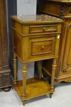 Antique French Henri II nightstand, approx 86cm H