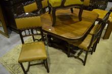 Six Antique French Henri II walnut chairs (6)