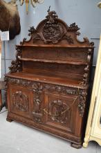 Most impressive rare antique French hunting buffet, approx 240cm H x 172cm