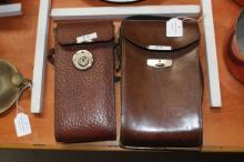 Two cameras with leather carry cases, one Kodak and the other Ernemman AG, Dresden (2)