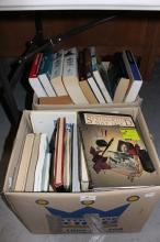 Two boxes of books on military interest, important people from history, etc (2)