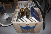 Two boxes of various books on the Olympics, Britain's Royal Family, history interest and others (2)