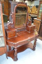 Antique Victorian dressing table, approx 155cm H x 126cm W x 50cm D