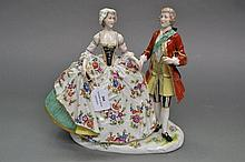 Early 20th century Naples porcelain figure group