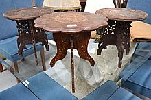 Pair of Indian tables and another (3)