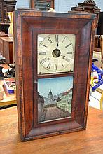 Antique American shelf clock, mid 19th century,