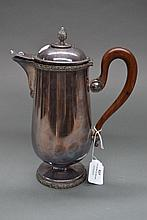 Empire style French teapot with carved wooden