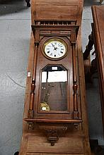Antique French walnut Henri II wall Clock